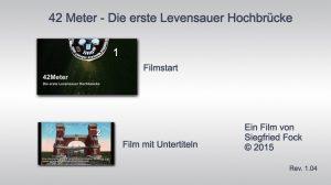 Filmmenue der Bluray Disk