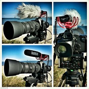 Rode VideoMic auf Canon EOS 5dMkII